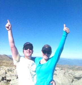 Mike & I on top of Mt Kosciusko, March 2014