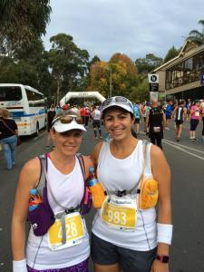 Diala & I at the start line of the Great Ocean Road Marathon, 18 May 2014.