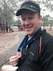 Mike and his bronze medal