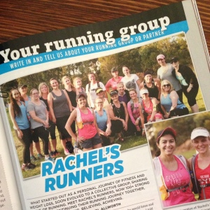 Rachel's Runners feature in Women's Running Australia magazine
