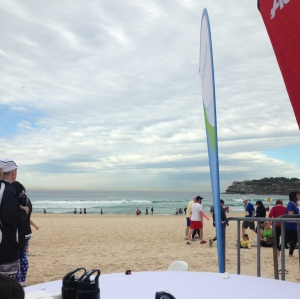 The reward for running City 2 Surf - beautiful Bondi Beach