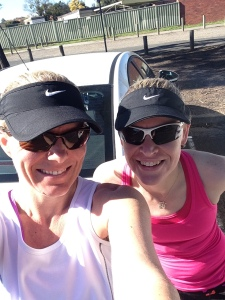 This week Amy helped me get through the last 12km of my big run.
