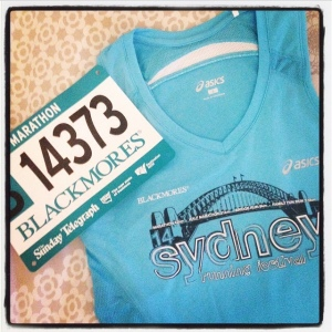Blackmores Sydney Marathon, here I come!
