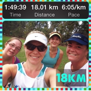 Last long run pre-marathon with Rachel's Runners.
