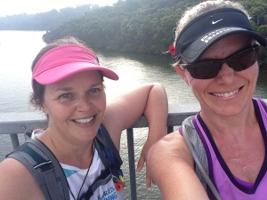 Stopping for selfies on the Alford's Point Bridge