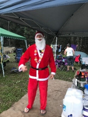 Santa made a visit to camp